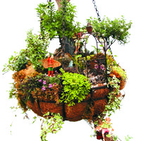 WATERFALL  BASKET GARDEN