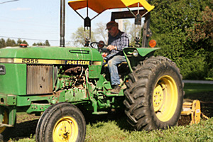 Dad on Tractor